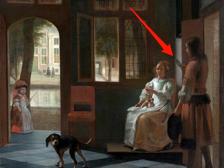 Кук увидел iPhone на картине, написанной 346 лет назад
