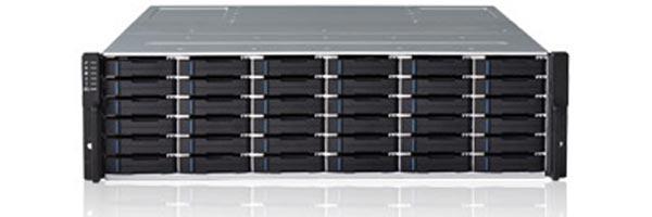 Хранилище данных Infortrend EonStor DS 1036B вмещает 36 накопителей типоразмера 2,5 дюйма