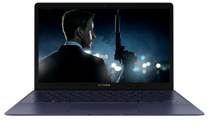 Ноутбук Asus ZenBook 3 толщиной 11,2 мм построен на процессоре Intel Core i7 и оснащен дисплеем размером 12,5 дюйма