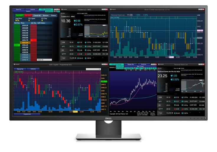 На экран монитора Dell P4317Q можно выводить изображение с четырех источников одновременно