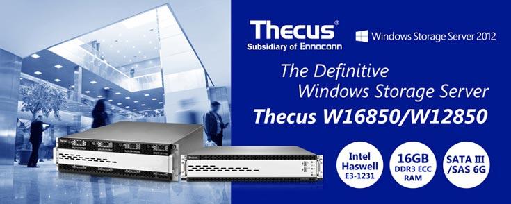 Представлены стоечные хранилища данных с сетевым подключением Thecus W12850 и W16850
