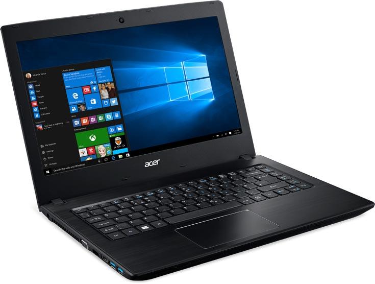Ноутбуки Acer TravelMate P2 на процессорах Intel Core шестого поколения могут быть оснащены дактилоскопическими датчиками