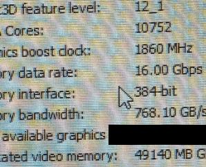 10752 ядра CUDA и 48 ГБ памяти — характеристики следующей видеокарты Nvidia Ampere